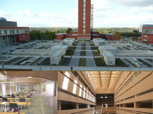 Nuevas facultades de Derecho y Filología, y complejo bibliotecario de la Universidad Complutense de Madrid (Madrid, Spain)