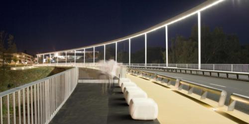 Nuevo puente sobre Río Henares (Madrid, Spain)