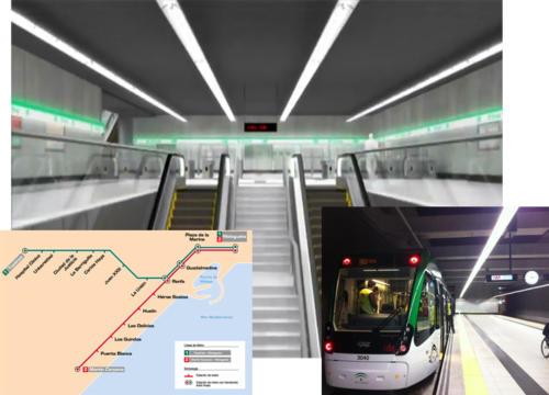 Metro de Málaga (Málaga, Spain)
